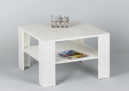 COUCHTISCH quadratisch Weiß - Weiß, Design (70/70/44cm) - Carryhome