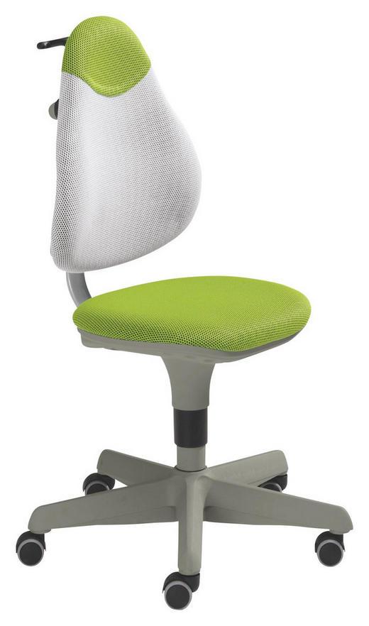 JUGENDDREHSTUHL Grün, Weiß - Weiß/Grün, Basics, Holz/Kunststoff (44cm) - PAIDI