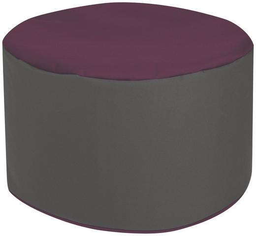 POUF Aubergine, Grau - Aubergine/Grau, Design, Textil (50/30cm) - Carryhome