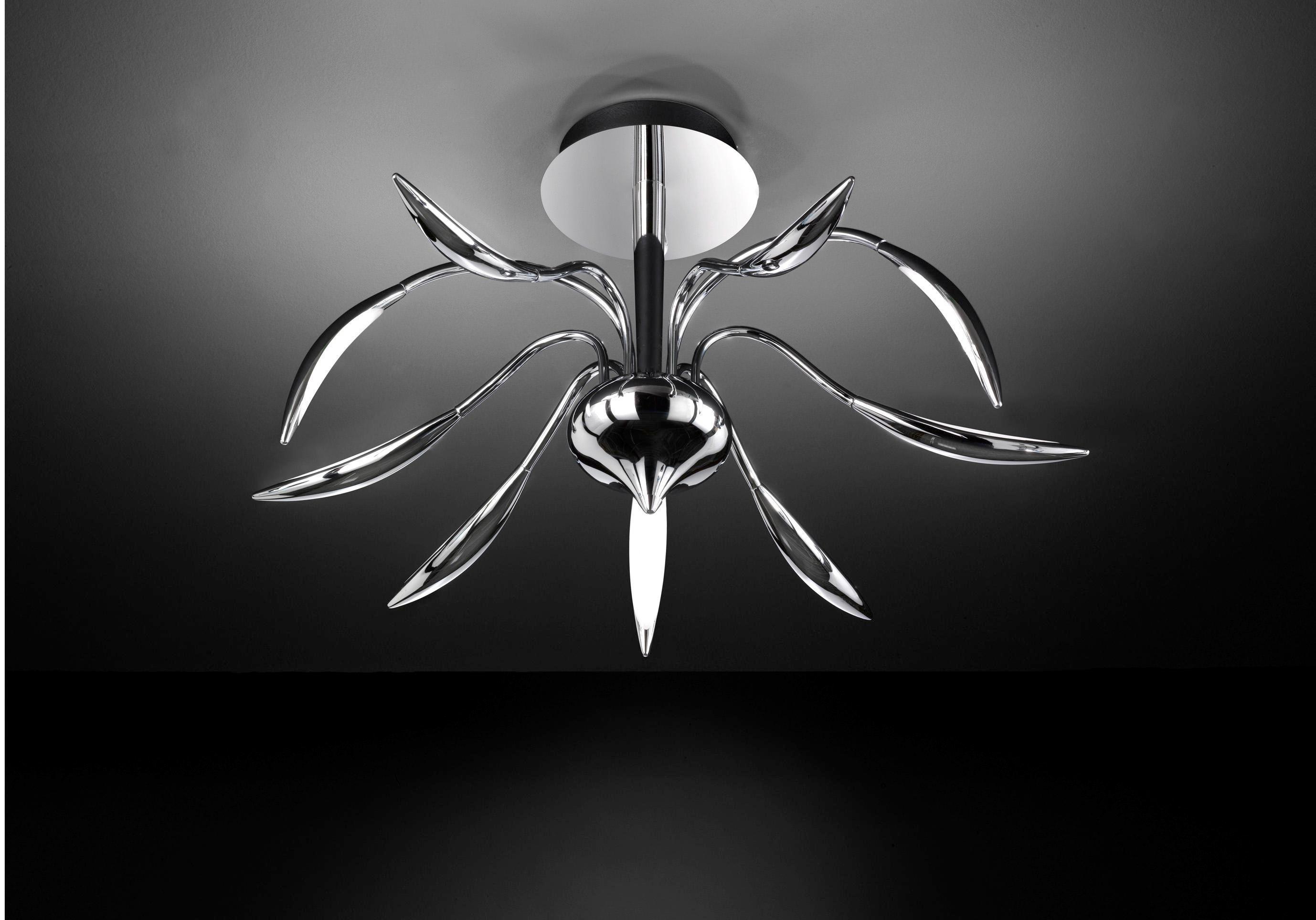 LED-DECKENLEUCHTE - Chromfarben, Design, Metall (78/41/78cm)