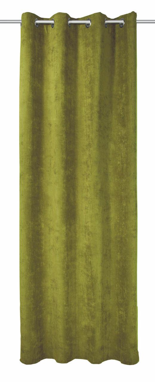 ÖSENSCHAL  Verdunkelung  135/245 cm - Grün, Textil (135/245cm)