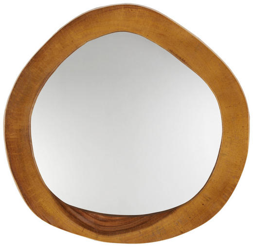 SPIEGEL - Teakfarben, Trend, Glas/Holz (50cm) - Ambia Home