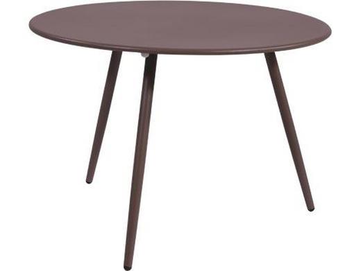 BEISTELLTISCH rund Taupe - Taupe, Design, Metall (Ø60/41cm)