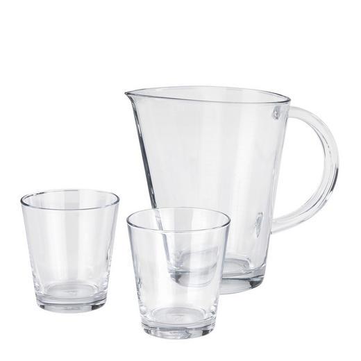 Gläserset 3-teilig - Klar, Basics, Glas (24,5/19,6/18,2cm) - Leonardo