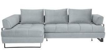 WOHNLANDSCHAFT in Textil Hellblau  - Schwarz/Hellblau, Design, Textil/Metall (173/272cm) - Stylife