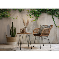VRTNA STOLICA - tamno siva/prirodne boje, Konvencionalno, metal/tekstil (56/81/60cm) - Ambia Garden