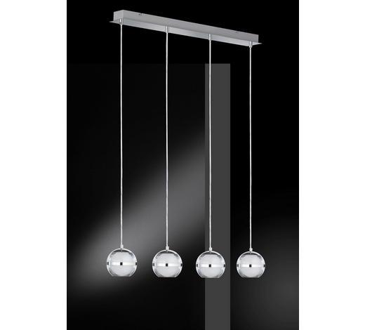 LED-HÄNGELEUCHTE   - Chromfarben, Design, Kunststoff/Metall (75/150/8,5cm)