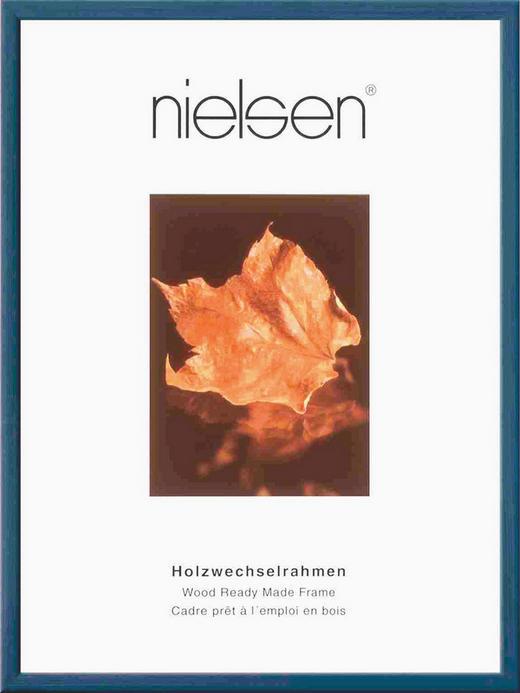 BILDERRAHMEN  Dunkelblau - Dunkelblau, Glas/Holz (10/15cm)