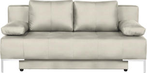 SCHLAFSOFA in Textil Naturfarben  - Chromfarben/Naturfarben, Design, Textil/Metall (193/85/89cm) - Carryhome