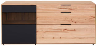 SIDEBOARD 185/81/49 cm - Anthrazit/Buchefarben, Natur, Glas/Holz (185/81/49cm) - Valnatura