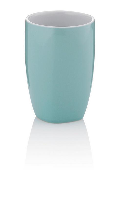 ZAHNPUTZBECHER - Mintgrün, KONVENTIONELL, Keramik (7,5/10,5cm)