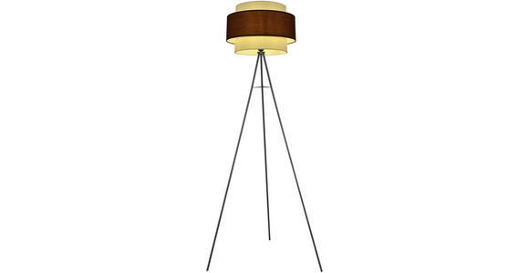Stehleuchte Yigit - Beige/Schwarz, ROMANTIK / LANDHAUS, Kunststoff/Metall (65/157cm) - James Wood
