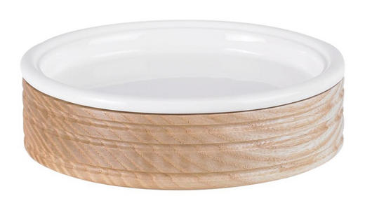 SEIFENSCHALE - Eschefarben/Weiß, Basics, Holz (13,3/4cm)