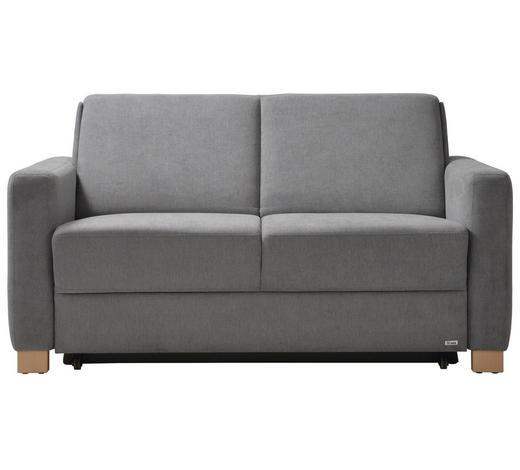 SCHLAFSOFA in Textil Grau  - Naturfarben/Grau, KONVENTIONELL, Holz/Textil (160/86/92cm) - Sedda