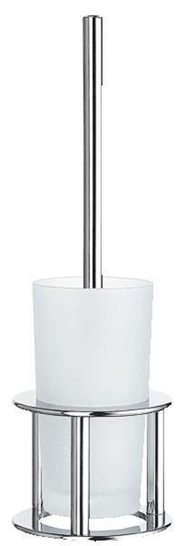 WC-BÜRSTENGARNITUR in Metall - Basics, Glas/Kunststoff (43.5/13.5/13.5cm)