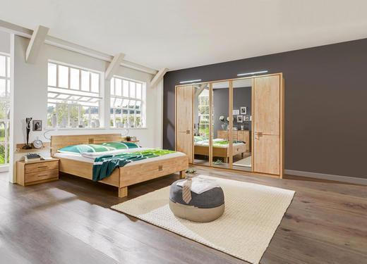 SCHLAFZIMMER Erlefarben - Erlefarben, Design, Holz (180/200cm) - Cantus