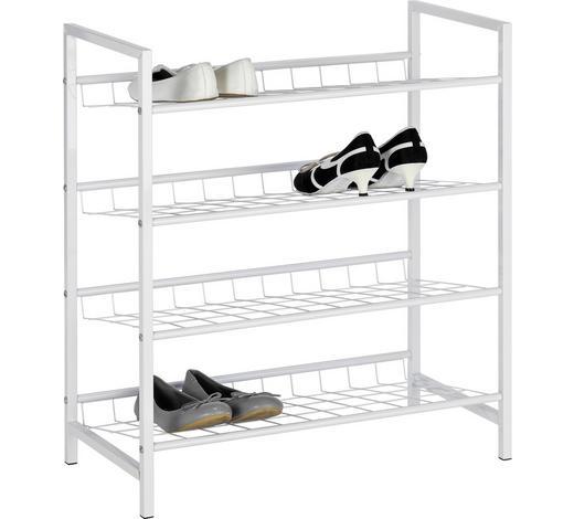 SCHUHREGAL Weiß  - Weiß, Design, Metall (63/70/30cm) - Boxxx