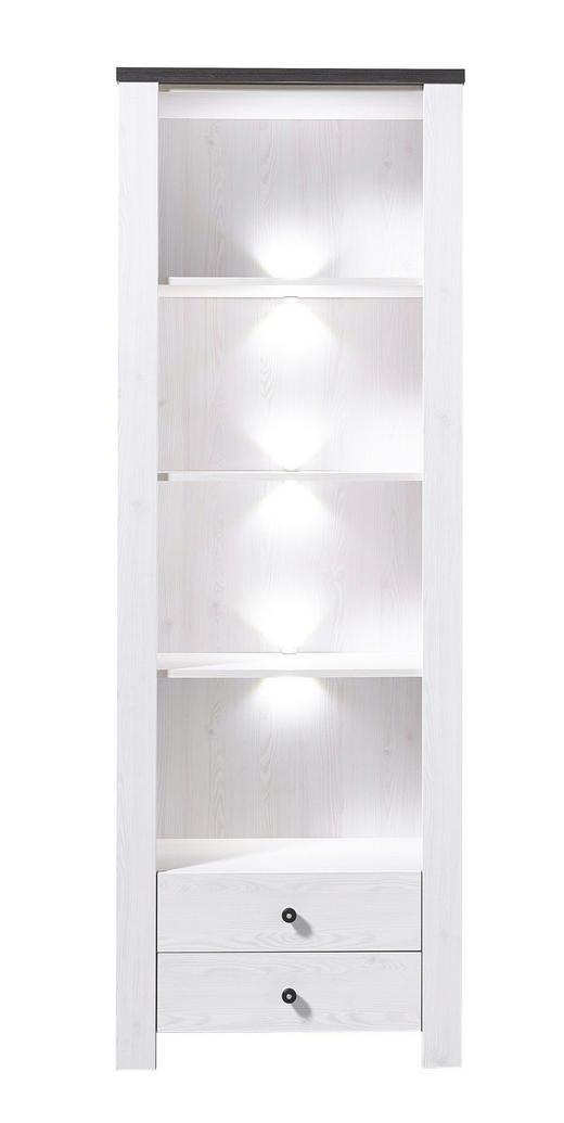 REGAL Pinienfarben, Weiß - Weiß/Pinienfarben, Design, Holz/Holzwerkstoff (70/203/40cm) - Carryhome