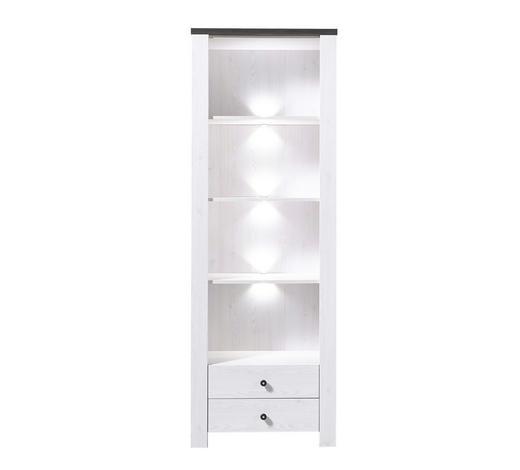 REGAL in 70/203/40 cm Weiß, Pinienfarben - Weiß/Pinienfarben, Design, Holz/Holzwerkstoff (70/203/40cm) - Carryhome