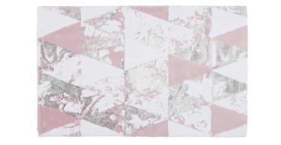 BADEMATTE  60/100 cm  Weiß, Flieder   - Flieder/Weiß, Design, Textil (60/100cm) - Ambiente