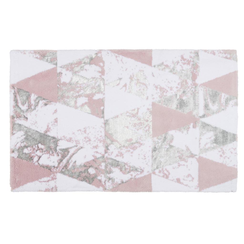 Image of Ambiente Badematte 60/100 cm weiss, flieder , Lisa , Textil , Abstraktes , 60 cm , Webstoff , rutschhemmend , 006134002402