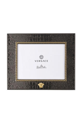 OKVIR ZA SLIKE 321341, 10/15 - zlata/rjava, Konvencionalno, kovina/usnje (20/20/10cm) - Versace