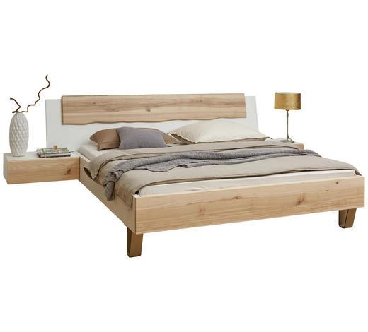 BETTANLAGE 180/200 cm  in Weiß, Eschefarben - Eschefarben/Weiß, Design, Holz/Holzwerkstoff (180/200cm) - Ambiente
