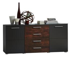 SIDEBOARD - kromfärg/grafitfärgad, Design, metall/träbaserade material (172/82/44cm) - Carryhome