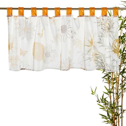 KURZGARDINE   140/48 cm - Braun/Orange, Basics, Textil (140/48cm) - ESPOSA