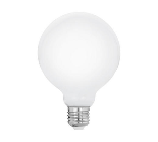LED-LEUCHTMITTEL  E27 8 W  - Weiß, Basics, Glas (13,7cm) - Homeware