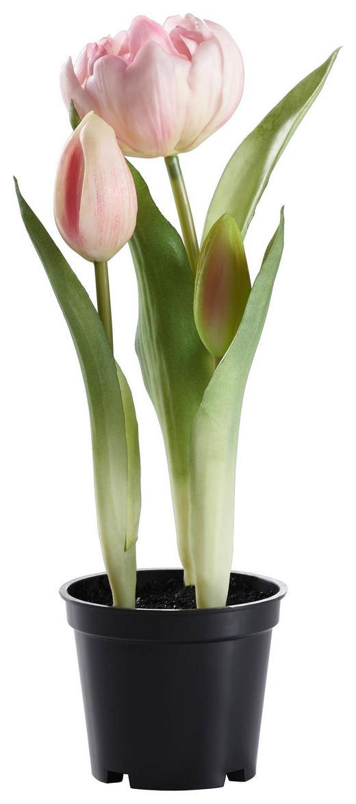 KUNSTBLUME Tulpe - Rosa/Grün, Basics, Kunststoff/Metall (25cm)