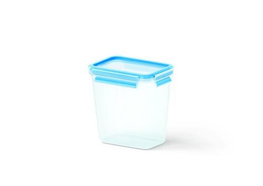 FÖRVARINGSBURK, 1,6L - blå/transparent, Basics, plast (16.5/11.5/16.3cm) - EMSA