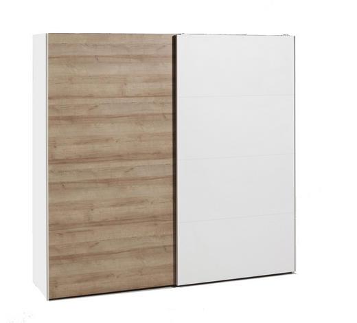 ORMAR S KLIZNIM VRATIMA bijela, boje hrasta   - bijela/boje hrasta, Design, drvni materijal (250/220/67cm) - Hom`in