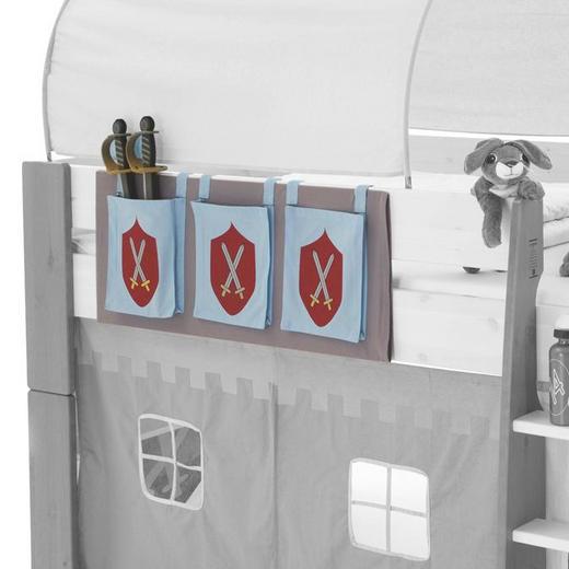 BETTTASCHE Hellblau, Rot - Rot/Hellblau, Design, Textil (39/93/1cm) - Carryhome