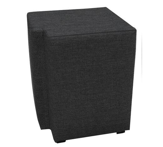 NACHTKÄSTCHENSET Flachgewebe Grau, Schwarz - Schwarz/Grau, Design, Kunststoff/Textil (40/50/40cm) - Carryhome