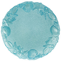 PLATZTELLER  33 cm - Blau, Trend, Glas (33cm) - Ambia Home