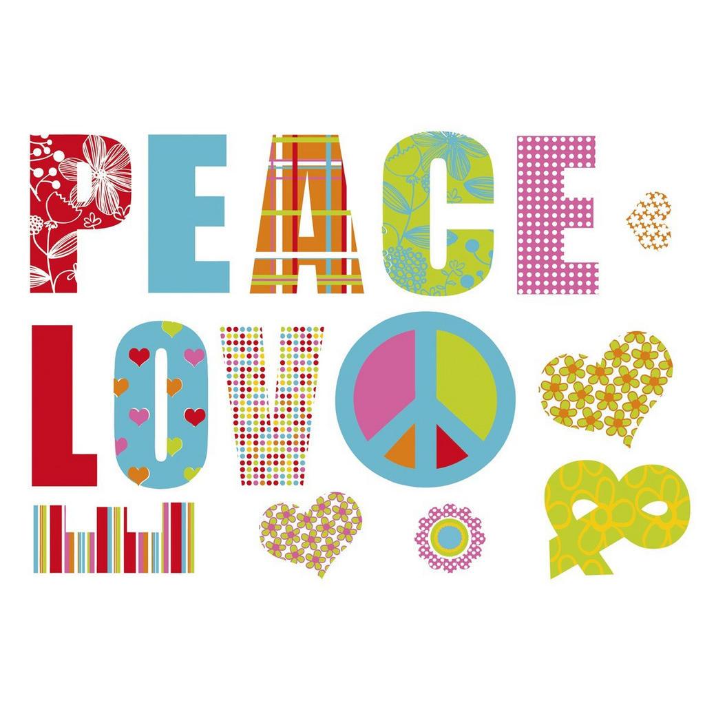 Komar Dekosticker Love And Peace
