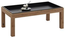 COUCHTISCH in Holzwerkstoff 108/60/43 cm   - Eichefarben/Schwarz, Natur, Holzwerkstoff (108/60/43cm) - Carryhome