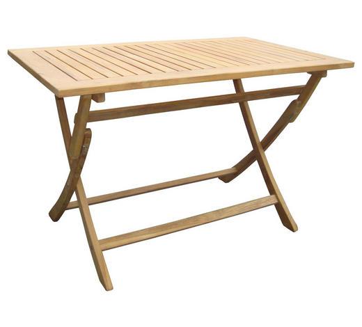 GARTENTISCH Holz, Metall Edelstahlfarben, Teakfarben  - Edelstahlfarben/Teakfarben, LIFESTYLE, Holz/Metall (120/70/74cm) - Zebra Süd