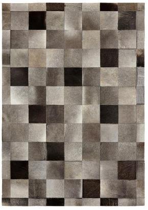 LÄDERMATTA - brun, Natur, läder/textil (80/150cm) - Linea Natura