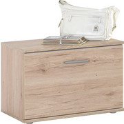 GARDEROBENBANK Eichefarben  - Eichefarben/Silberfarben, KONVENTIONELL, Kunststoff (65/44/36cm) - Boxxx