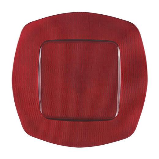 PLATZTELLER  34 cm - Rot, Basics, Glas (34cm) - Novel