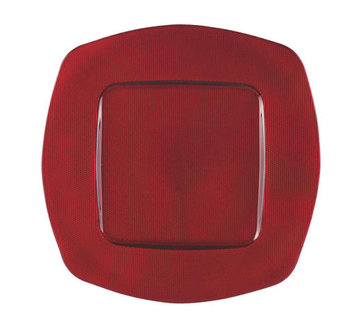 PLATZTELLER   - Rot, Basics, Glas (34cm) - Novel