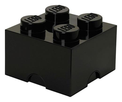 AUFBEWAHRUNGSBOX 25/25/18 cm - Schwarz, Trend, Kunststoff (25/25/18cm) - Lego