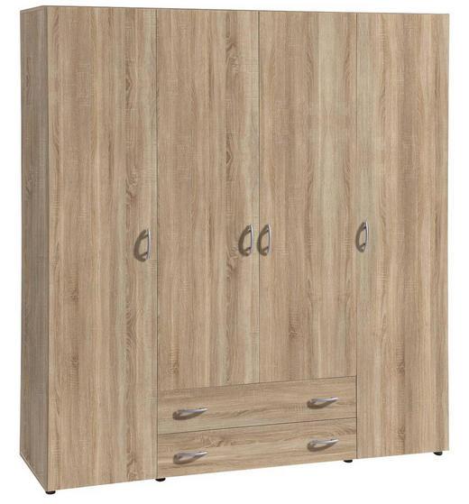 SCHRANK Eichefarben - Eichefarben/Alufarben, KONVENTIONELL, Holzwerkstoff/Kunststoff (161/176/53cm) - Carryhome