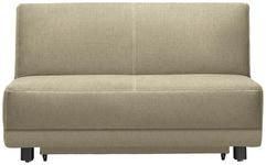 SCHLAFSOFA in Textil Beige  - Beige/Schwarz, MODERN, Holz/Textil (145/90/96cm) - Novel