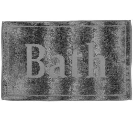 BADEMATTE in Anthrazit 50/80 cm - Anthrazit, Design, Textil (50/80cm) - Bio:Vio