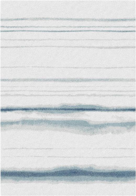 VÄVD MATTA - beige/ljusblå, Design, textil (140/200cm) - NOVEL