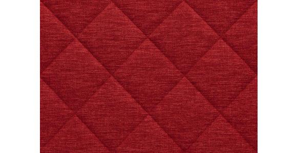BOXSPRINGBETT 180/200 cm  in Rot  - Rot/Alufarben, KONVENTIONELL, Textil/Metall (180/200cm) - Dieter Knoll