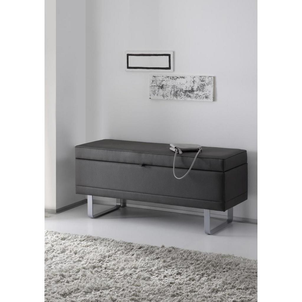 Moderano TRUHENBANK Lederlook Grau | Küche und Esszimmer > Sitzbänke > Truhenbänke | Textil | Moderano